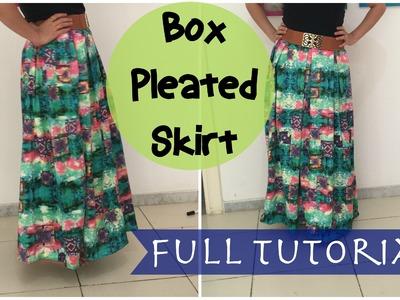 Box pleated skirt- Full Tutorial