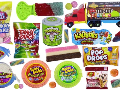Candy BONANZA 9! KaDunks Baby Bottle POP 2D Hubba Bubble Tape M&M's Ice Cream Jelly Belly! FUN