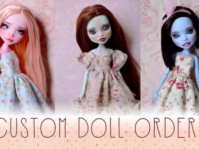 Custom doll orders {reroot, repaint, new clothes}