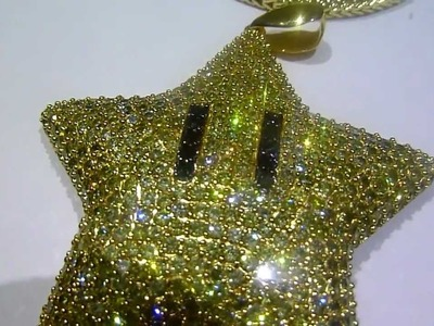 Custom INVINCIBILITY STAR! Thanks to my customer for the lab made pendant purchase! Hip Hop Jewelry