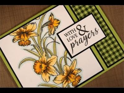 Daffodil Love Card- Spectrum Noir Coloring