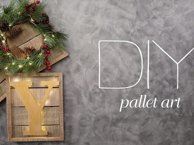 DIY Christmas Pallet Sign