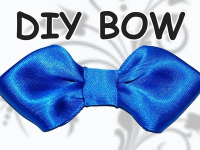 DIY easy bow. How to make ribbon bow . DIY beauty and easy