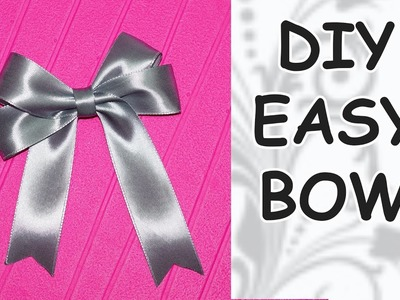 DIY easy. DIY cfrafts. DIY Ribbon BOW. How to make a bow out of ribbon. DIY beauty and easy