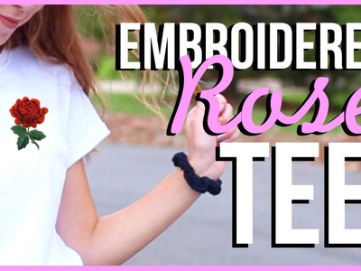 DIY Embroidered Patch Tee (easier than it looks!!)