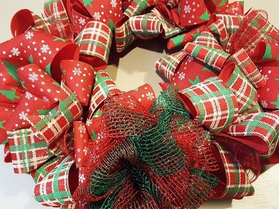 Dollar Tree Christmas Bow Wreath