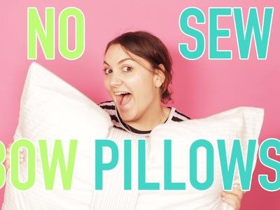 DORM DECOR: No Sew Bow Pillows