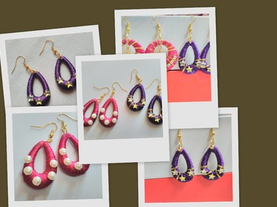 Easy way to make Silk Thread Earring