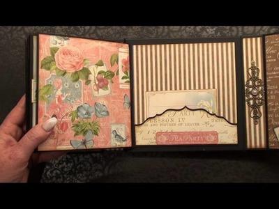 ( English ) Scrapbook Mini Album Graphic 45 Botanical Tea