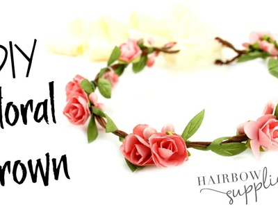 Floral Crown Tutorial - Baby Flower Crown - Hairbow Supplies, Etc.