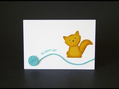 Foxy Friends Cat Note Card