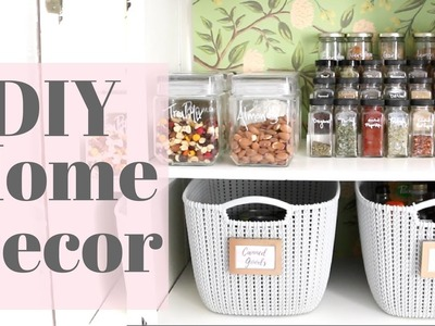 Home DIY Tutorial - My Pantry Makeover