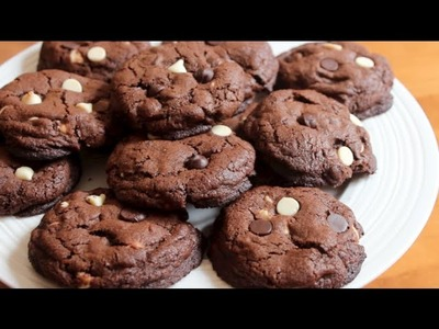 How to make Double Chocolate White Chocolate Chip Cookies