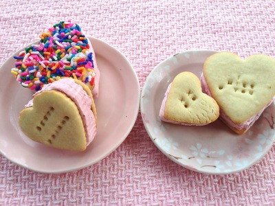 How To Make Strawberry Ice Cream Sandwich From Scratch For Valentine's Day!