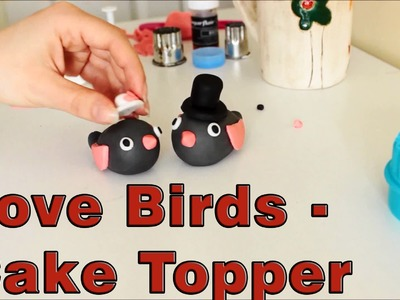 How to make Sugar Paste Fondant Love Birds Cake Toppers | HappyFoods