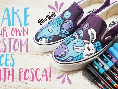 Make Your Own Custom Shoes! - With Uniball Posca Pens *Cute Vans!* [AD]