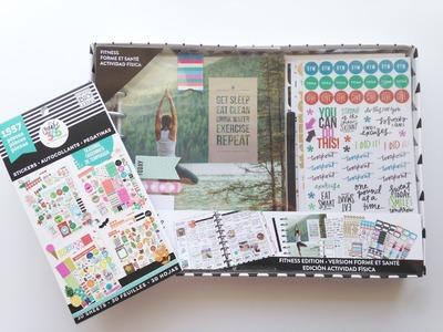 Michaels Haul Happy Planner Fitness Kit Share & Seasonal Sticker Book Flip