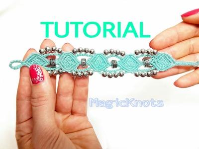 Micro macrame Frozen bracelet tutorial