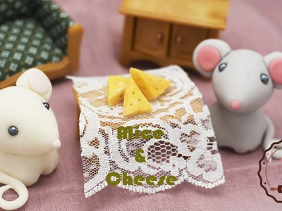 Mouse cake topper!  Easy! Simple! Cute! Poke style!