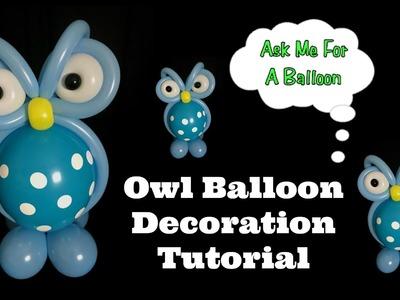 Owl Balloon Decoration Tutorial