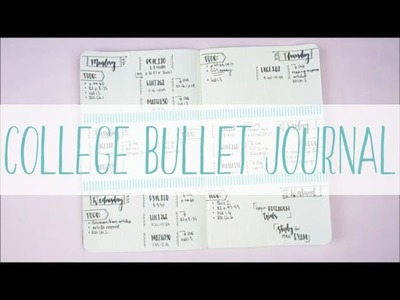 Plan with Me. College Bullet Journal