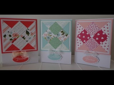 Pretty patchwork look card~ tutorial ~ Stampin' Up!