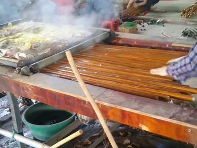 Processing Wooden Broom Handle (YENMAC COMPANY LIMITED)