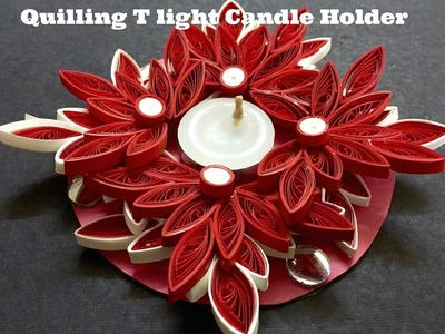 Quilling T light Candle holder #18