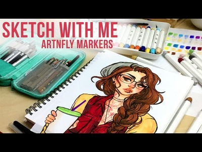 Sketch With Me. ArtnFly Marker Review. Jacquelindeleon