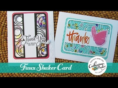 Stamp of Approval Faux Shaker Card