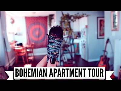 UPDATED BOHEMIAN APARTMENT TOUR ☾ Living Room & Kitchen ☽