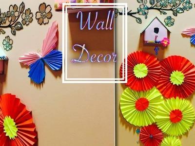 WALL DECOR DIY - A4 SHEET CHINESE PAPER FAN MEDALLIONS. BUTTERFLIES. BIRD HOUSE (EP 74)