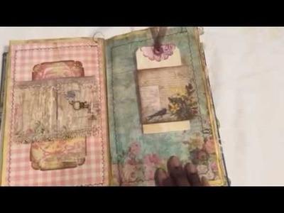 Wallflower junk journal part 1 SOLD