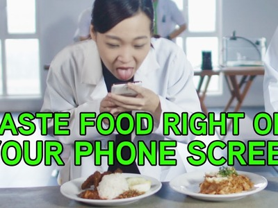 Want to taste food off your phone? Meet the Maxis Screen Savour