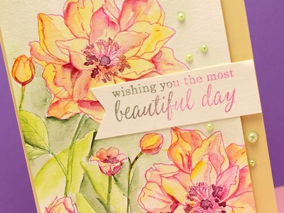 Watercolor Flowers Series #12 - Painting with Dot Charts