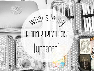 What's In My Travel Planner Case (UPDATED)