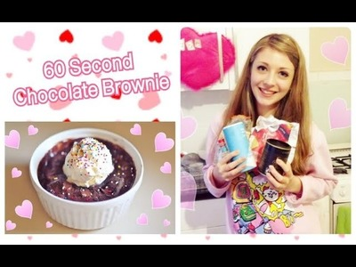 1 Minute Chocolate Brownie in a Mug Tutorial