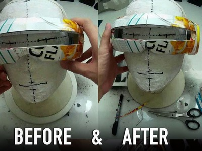 #118.2: X-Men Cyclops Part 2 - How To Fix Oversized Visor? Costume Prop How To | Dali DIY