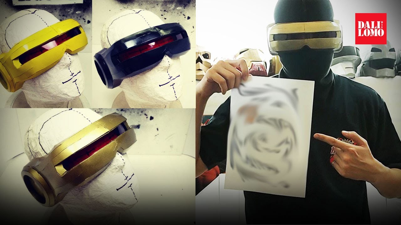 #118.4: X-Men Cyclops Part 4 - Three Different Color Schemes   Costume Prop How To   Dali DIY
