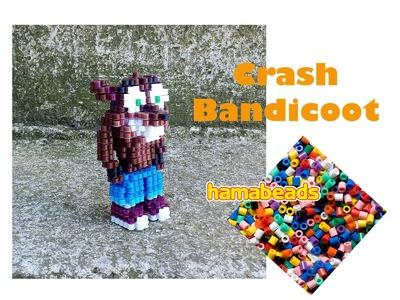 3D perler beads hama beads nabbi beads Crash Bandicoot assembly