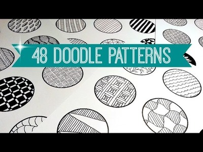 48 EASY & AWESOME DOODLE PATTERNS | SPEED-UP ART | SOLLOMIO
