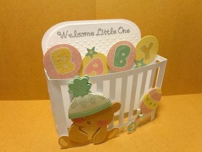 Baby Crib Box Card Cricut Explore