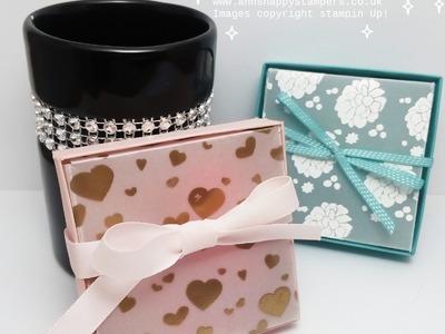 Beautiful Heat Embossed Gift box for my Scissor Charms.Jewelery
