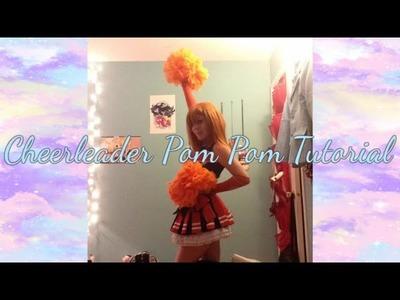 Cheerleader Pom Pom Tutorial