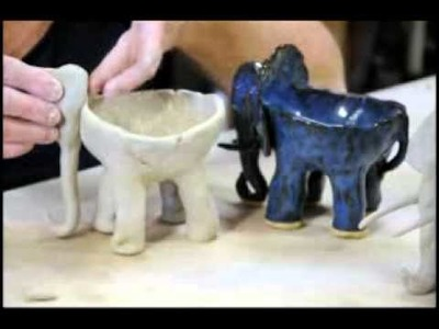 Clay time with Liz: Project 2 - Hand built Elephant Ice Cream Bowl