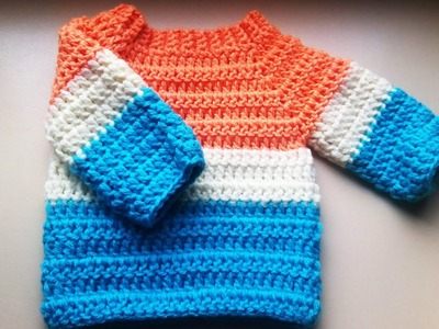 Crochet baby sweater.jumper.pullover