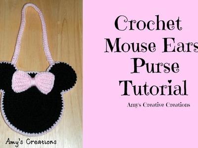 Crochet Child Mouse Purse Tutorial