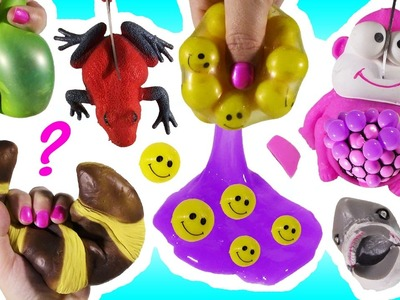 Cutting OPEN Squishy Pink MONKEY! Red Froggy Happy FACES! Homemade Slimy Shark Squishy! Pastry! FUN