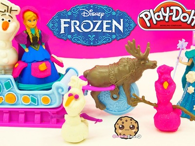 Disney Frozen Princess Anna Queen Elsa Sled Adventures Playdoh Playset - Toy Video