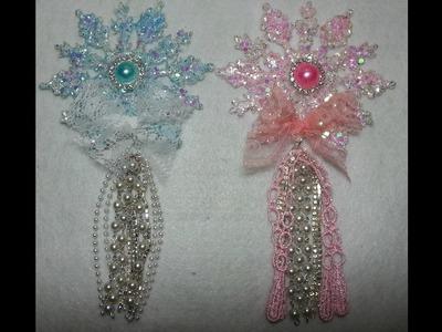 DIY~GORGEOUS, Sparkling Snowflake Ornaments! EASY & Inexpensive!